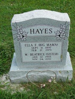 Ella Florence <I>Williams</I> Hayes