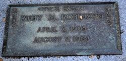 Ruby M Robinson