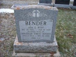 Ada L <I>Ropp</I> Bender