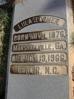 """Mary Tallulah """"Lula"""" <I>Johnson</I> Comer"""