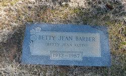 Betty Jean <I>Klein</I> Barber