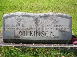 Nancy Jane <I>Cross</I> Wilkinson