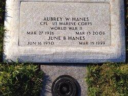 """CPL Aubrey Webb """"Buck"""" Hanes"""