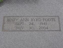 Mary Ann <I>Byrd</I> Foote