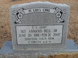 Sgt Ananias Bell, Jr