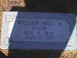 """William Manuel """"Bill"""" Snow"""