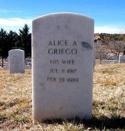 Alice A Griego