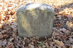 Martha L <I>Sharber</I> Byers