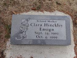Clara <I>Hinckley</I> Ensign