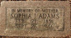 """Sophia Ida """"Sophie"""" <I>Leader</I> Adams"""
