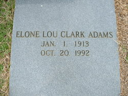 Elone Lou <I>Clark</I> Adams