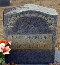 Ina Ruth <I>Boykin</I> Arinder