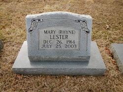 Mary <I>Rhyne</I> Lester