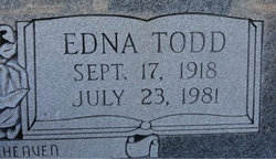 Edna Josephine <I>Todd</I> Hucks