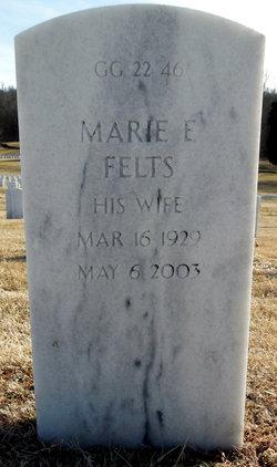 Marie E Felts