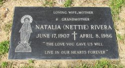 """Natalia """"Nettie"""" <I>Castillo</I> Rivera"""