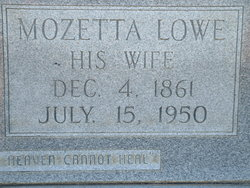 Mozetta <I>Lowe</I> Boyette