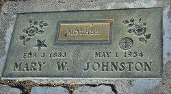 Mary W Johnston
