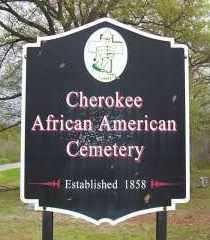 Cherokee African American Cemetery