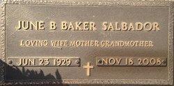 June Betty <I>Baker</I> Salbador