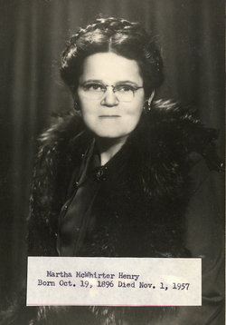 Martha Louise <I>McWhirter</I> Henry