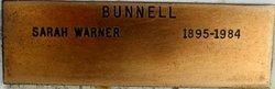 Sarah <I>Warner</I> Bunnell