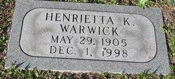 Henrietta K Warwick