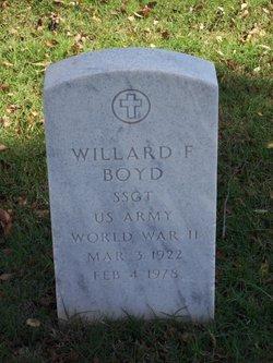 Willard F Boyd