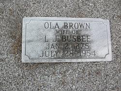 Ola <I>Brown</I> Busbee