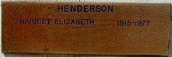 Harriet Elizabeth Henderson