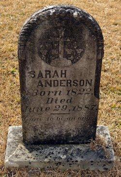 """Sarah """"Sally"""" <I>Webb</I> Anderson"""