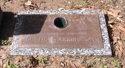 Lettie Lee <I>Block</I> Arrington
