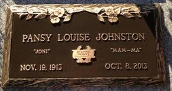 "Pansy Louise ""Joni"" Johnston"