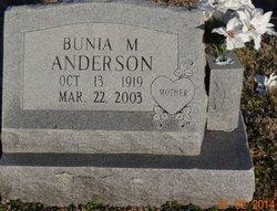 Bunia M Anderson