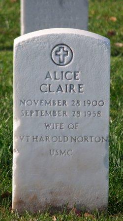Alice Claire <I>Korell</I> Norton