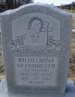 Wilhelmina Catherine <I>Rensing</I> Brandmeyer