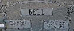 """Virginia Doris """"Gincie"""" <I>Dollahite</I> Bell"""