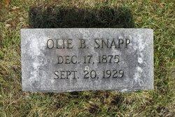 Olie B <I>Marshall</I> Snapp