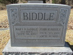 Mary D Biddle