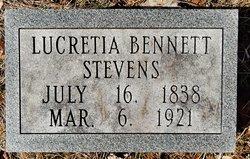 Lucretia Mary <I>Bennett</I> Stevens