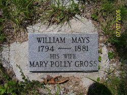 """Mary """"Polly"""" <I>Gross</I> Mays"""