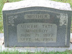 Mollie <I>Tate</I> McElroy