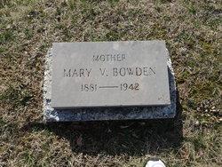 Mary Victoria <I>Choate</I> Bowden