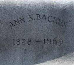 Ann Susan <I>Taylor</I> Backus