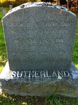 Mehitable Child <I>Lang</I> Sutherland