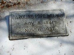Caroline Elizabeth <I>Pope</I> Wilson