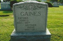 Irene <I>Metts</I> Gaines