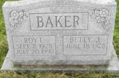 Betty J <I>Moser</I> Baker