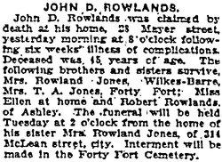 John D Rowlands