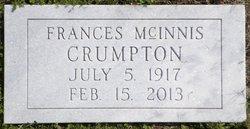 Frances <I>McInnis</I> Crumpton